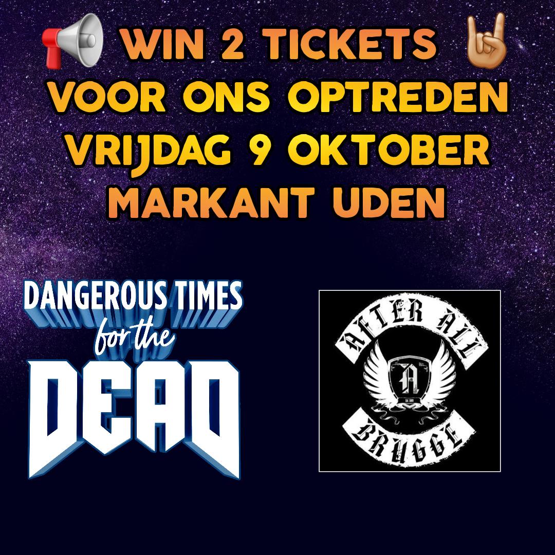 Image for contest: Win 2 tickets voor ons optreden 9 oktober!