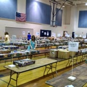 Setup for the book sale