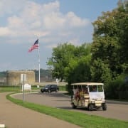 People Mover in front of Historic Fort Snelling