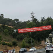 Banner over DeLong