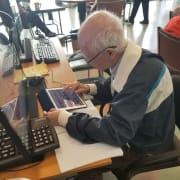 Senior at Computer Lab at Adult Day Health Center
