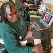 Senior at Computer Lab at Adult Day Health Center
