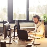 Human at Desk