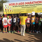 14th annual World AIDS Marathon in Kisumu, Kenya