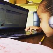 Online tutoring girl