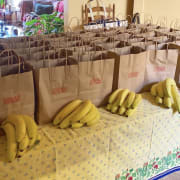 Bags with bananas