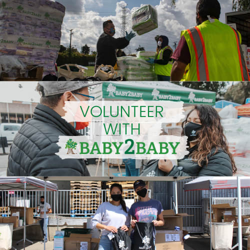 Logo for Make an Impact on Children Living in Poverty – Volunteer with Baby2Baby at our Culver City HQ!