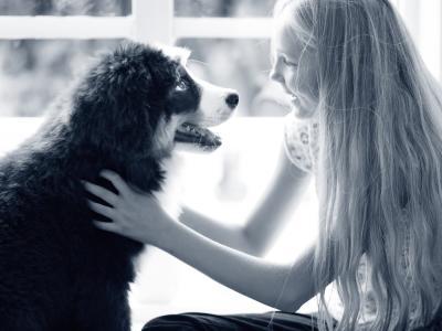 meisje puppy