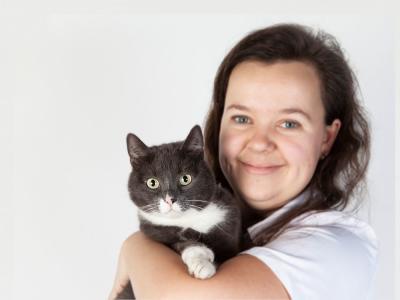 kat knuffel dierenarts