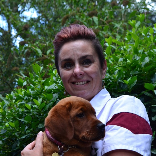 Suzanne met hond