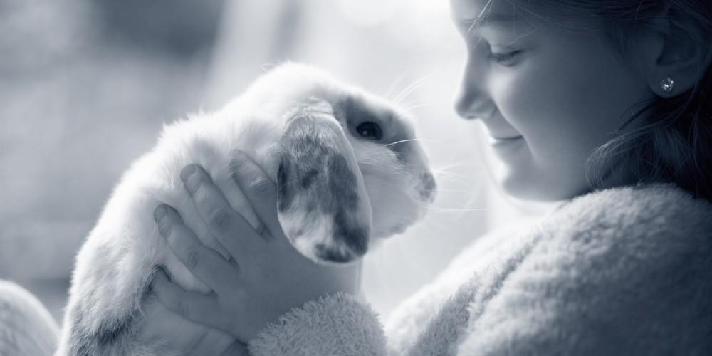 konijn meisje