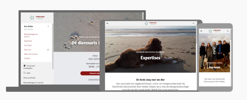 website Sterklinieek Den Helder