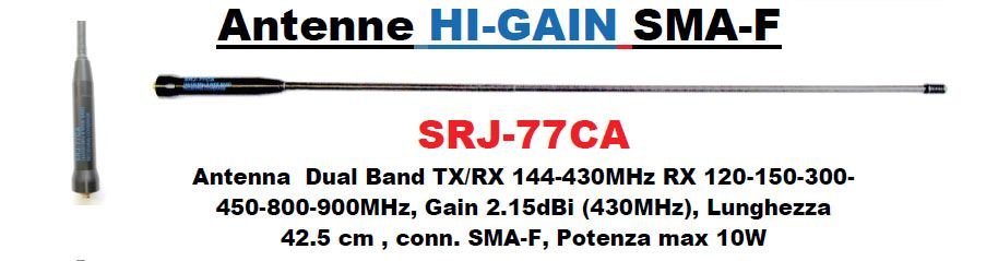 Antenna flex Hi-gain 42.5 cm 144-430 mhz con sma-f (SRJ-77CA)