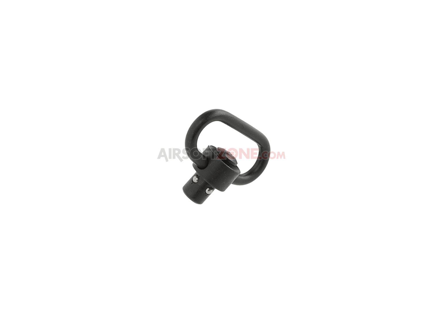 Attacco cinghia sgancio rapido heavy duty push button qd 1,25'' BK