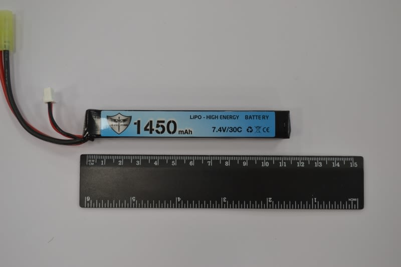 Batteria Lipo 7,4 V 1450 mAh 30C stick tamiya
