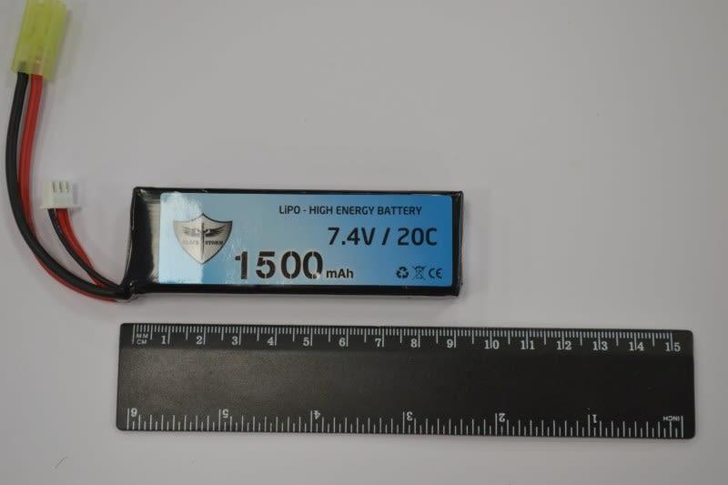 Batteria Lipo 7,4 V 1500 mAh 20 C tamiya