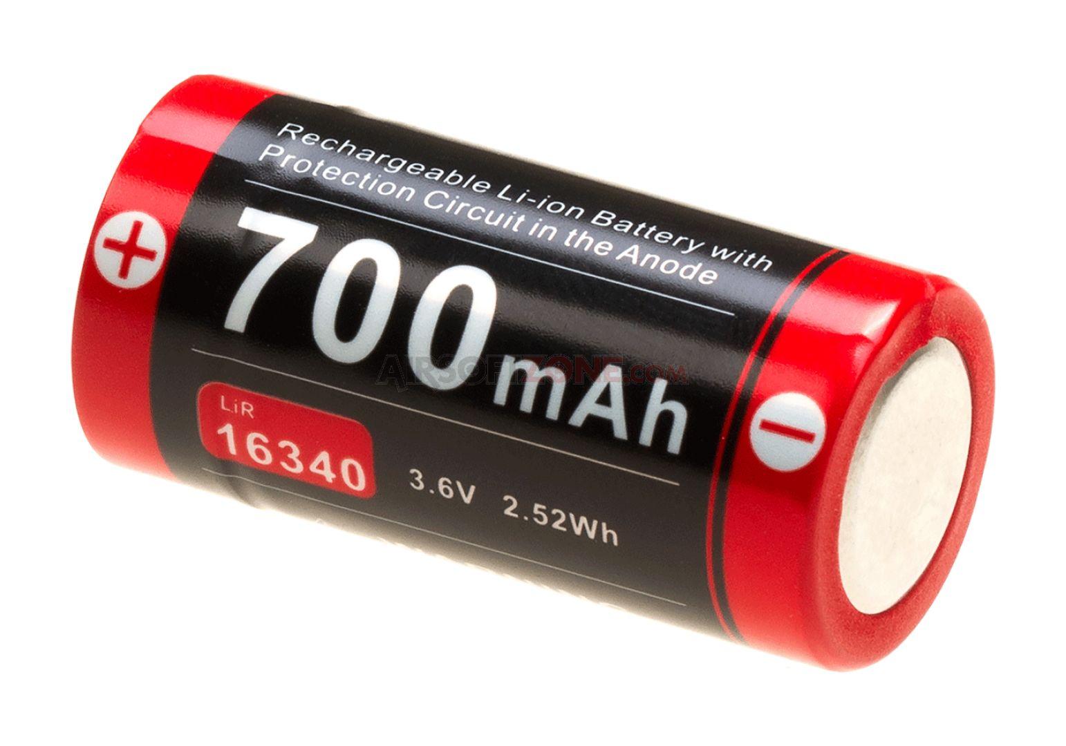 Batteria ricaricabile Li-on 16340
