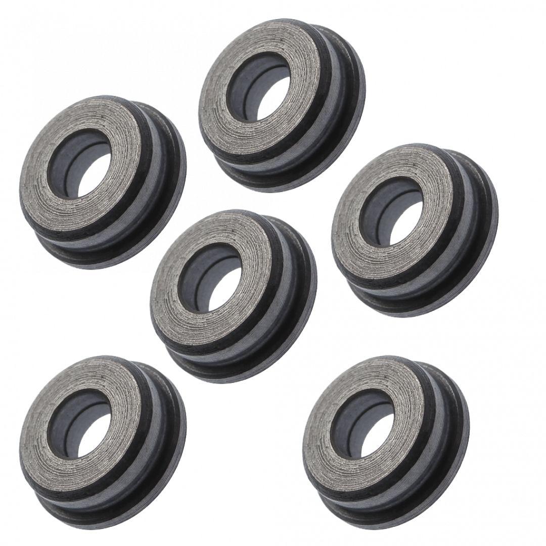Boccole piene in acciaio da 7 mm auto lubrificanti lavorate dal pieno in CNC (B7PA)