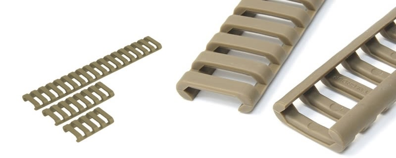 Coprislitta low profile rail cover FDE