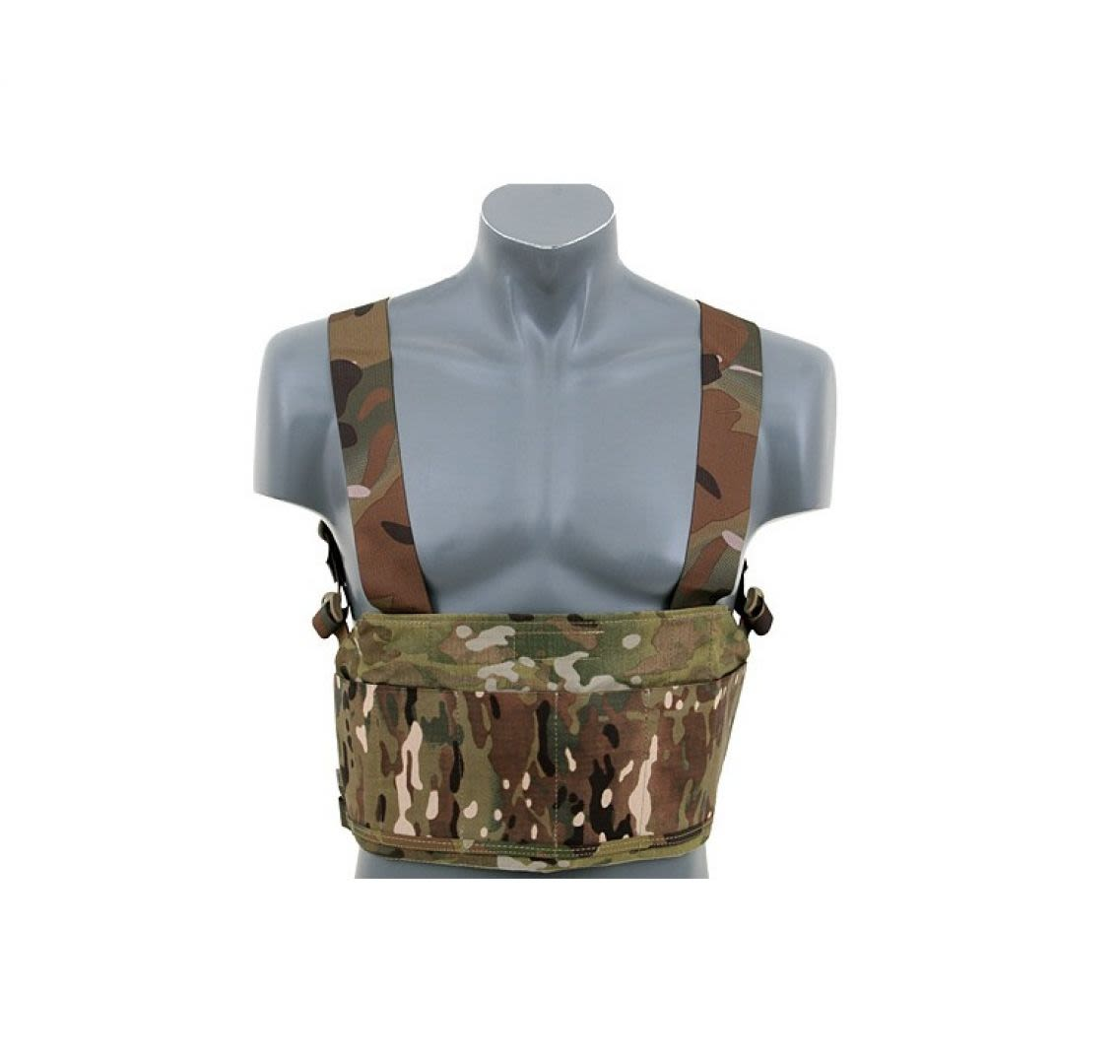 Emerson Lightweight Chest rig w/Elastic Pouches Multicam