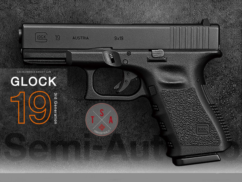 Glock 19 Generazione 3 BK
