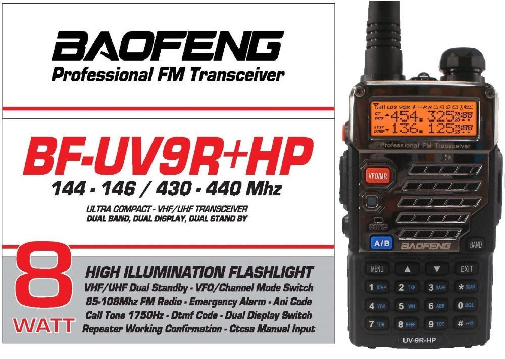 Radio BF-UV9R+HP
