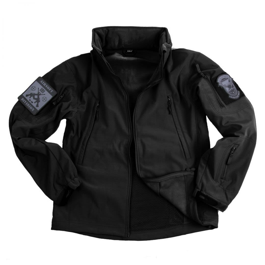 Soft shell jacket tactical BK