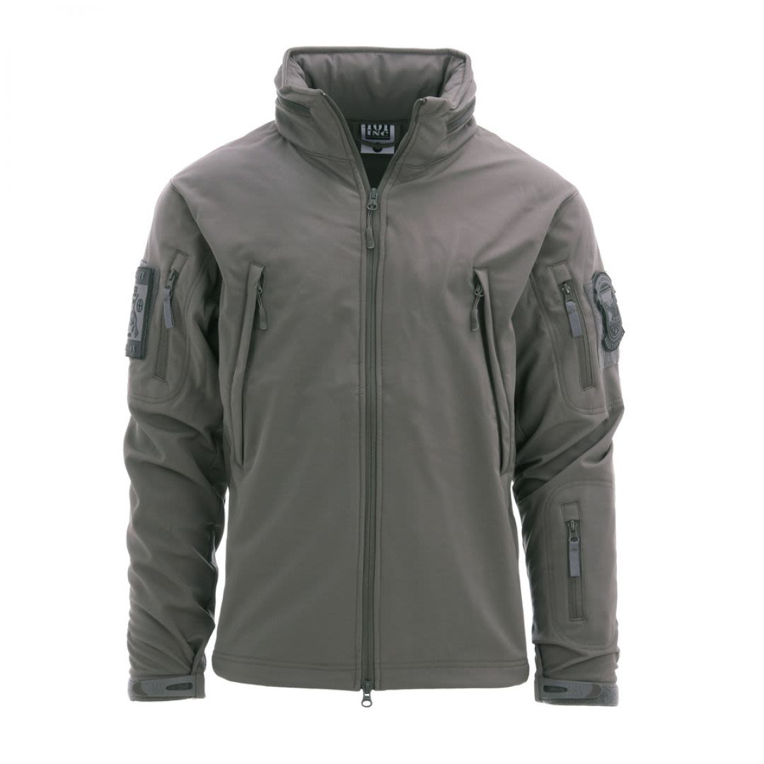 Soft shell jacket tactical wolf grey