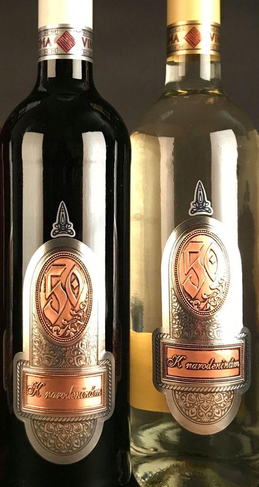 Fľaša s kovovou etiketou 0,75 l