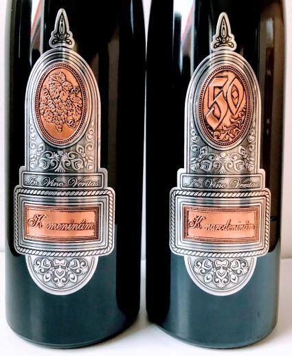 Fľaša s kovovou etiketou 3,00 l - 5,00 l