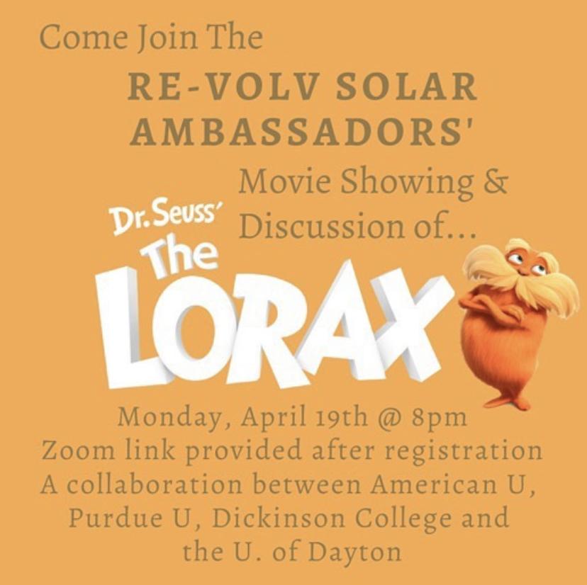 lorax solar ambassador graphic