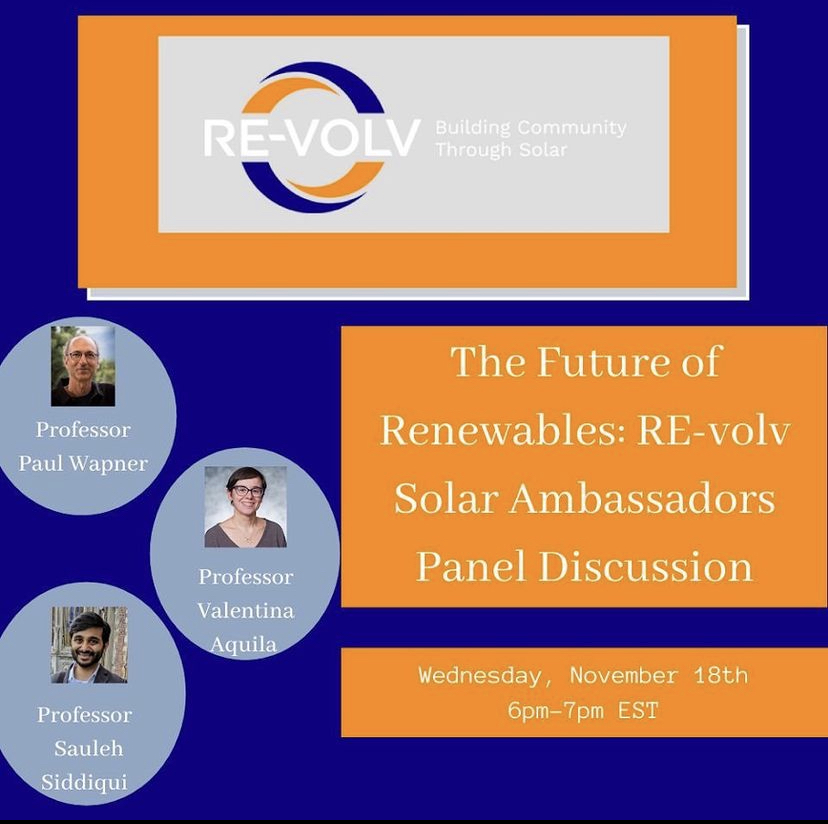 RE-volv solar presentation panel discussion