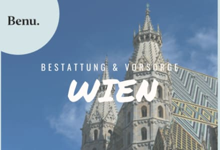 Stephansdom in Wien mit Benu Logo