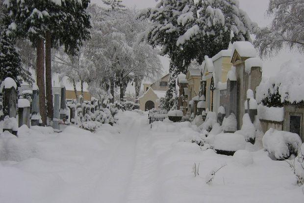 Winterlicher Friedhof