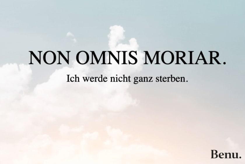 Trauerspruch - non omnis moriar