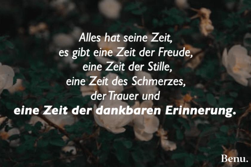 Trauerspruch - Erinnerung