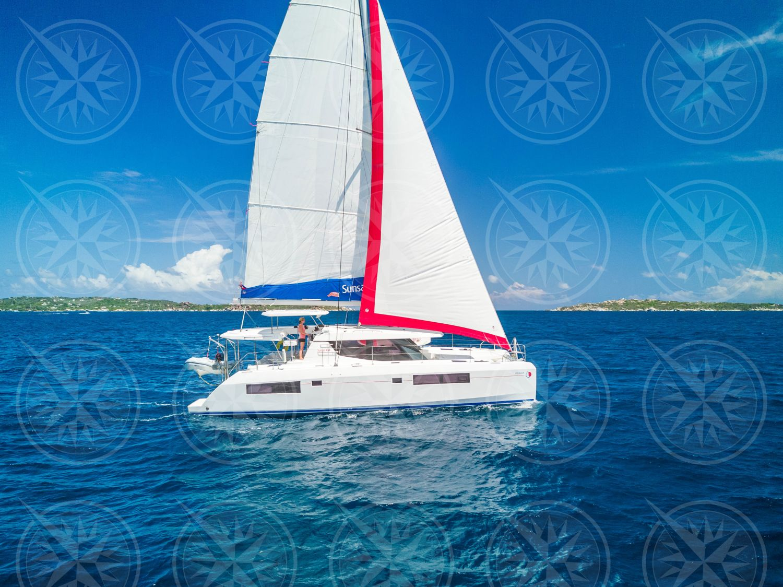 Yacht Sailing in open seas.