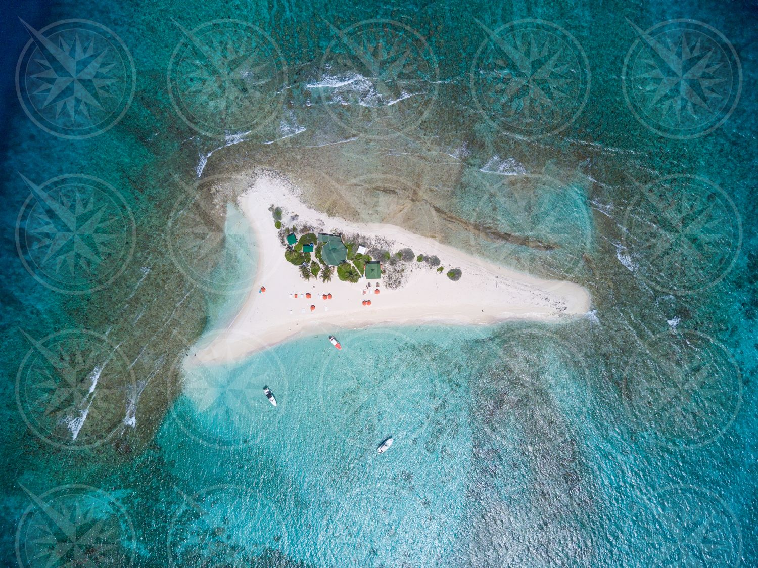 Sandy Island from the air