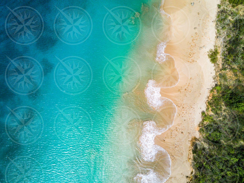 Crocus Bay beach from above