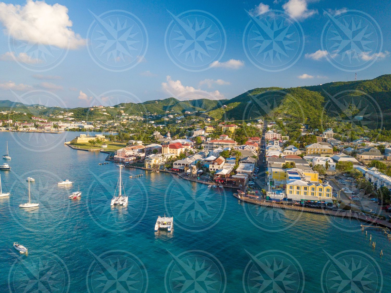 Downtown Christiansted from the air