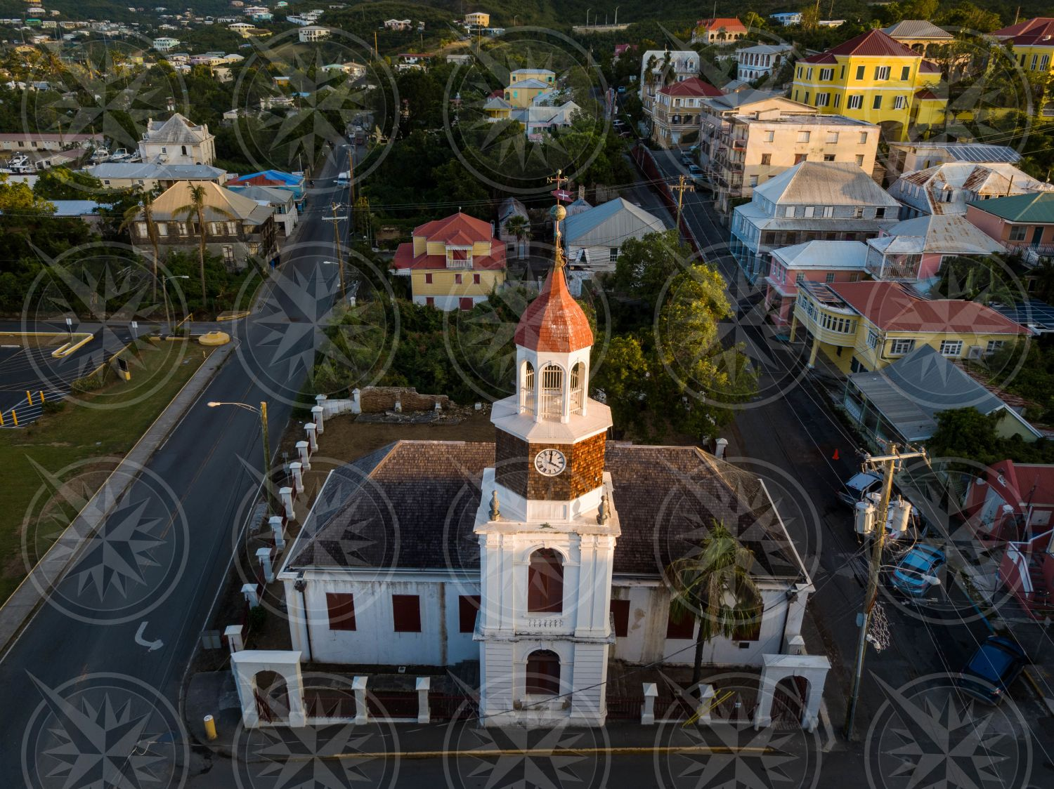 Steeple Building downtown Christiansted, St. Croix