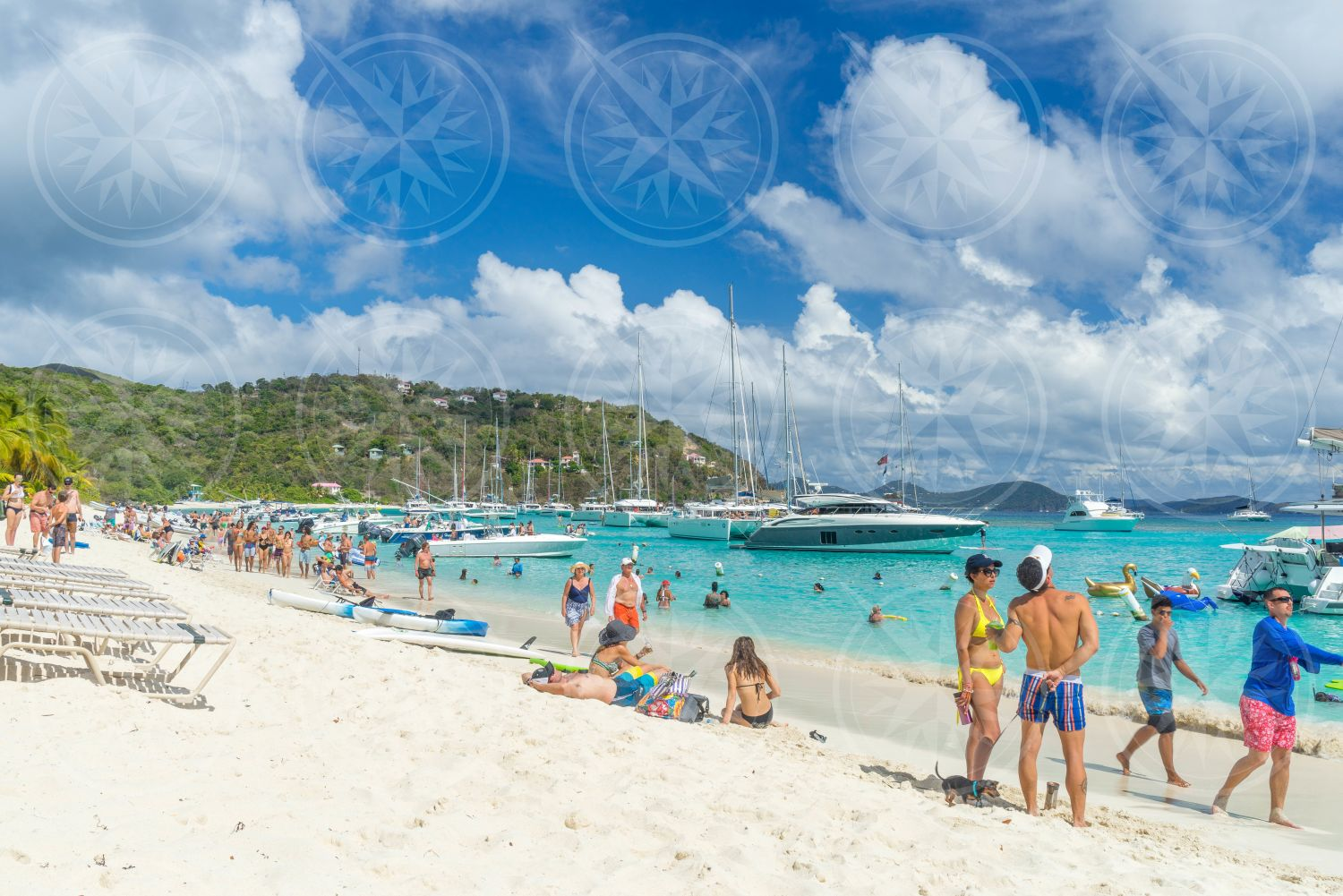 People on White Bay, Jost Van Dyke, British Virgin Islands