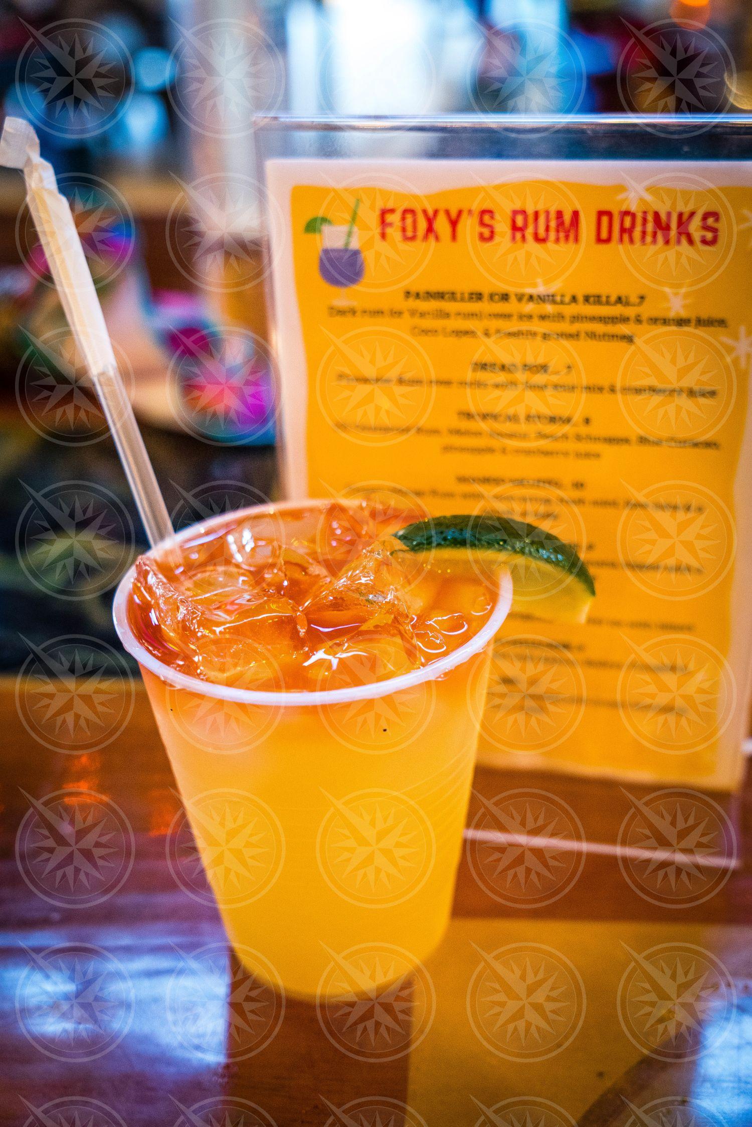 Foxy's Rum Drink at Foxy's Bar, Jost Van Dyke, British Virgin Islands