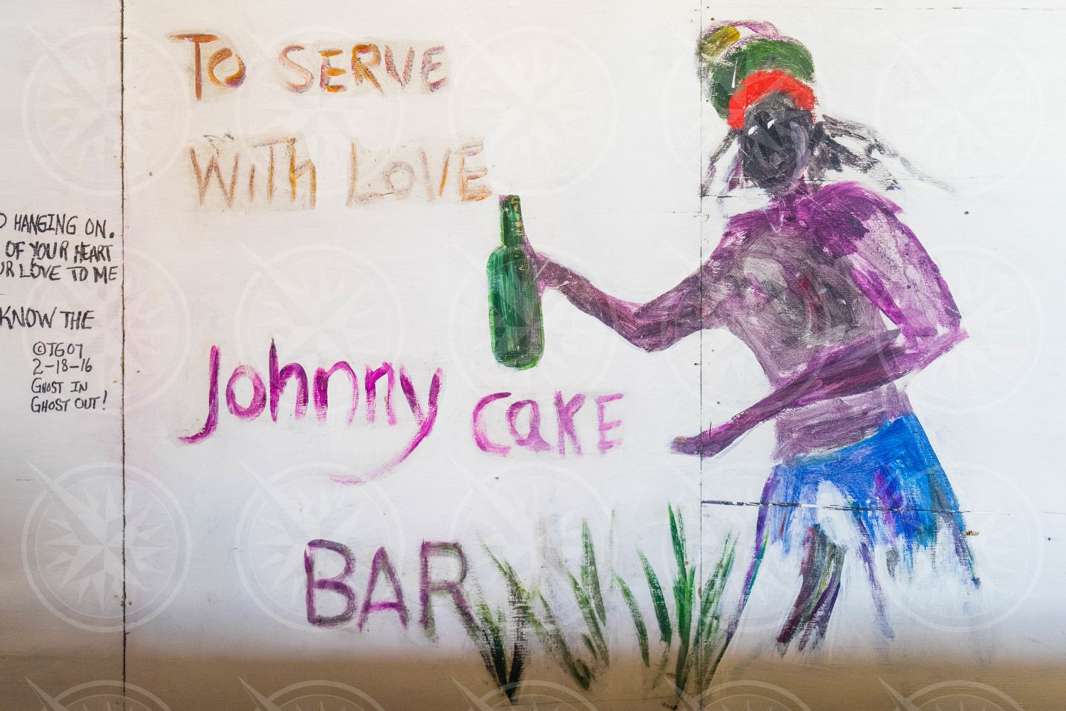 Sign to serve with love Johnny Cake Bar