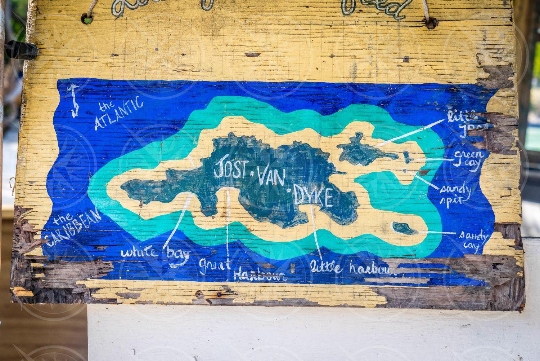 Jost Van Dyke map sign