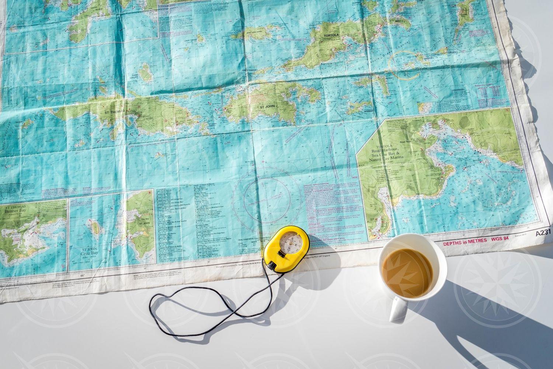 Sailing charts of the British Virgin Islands