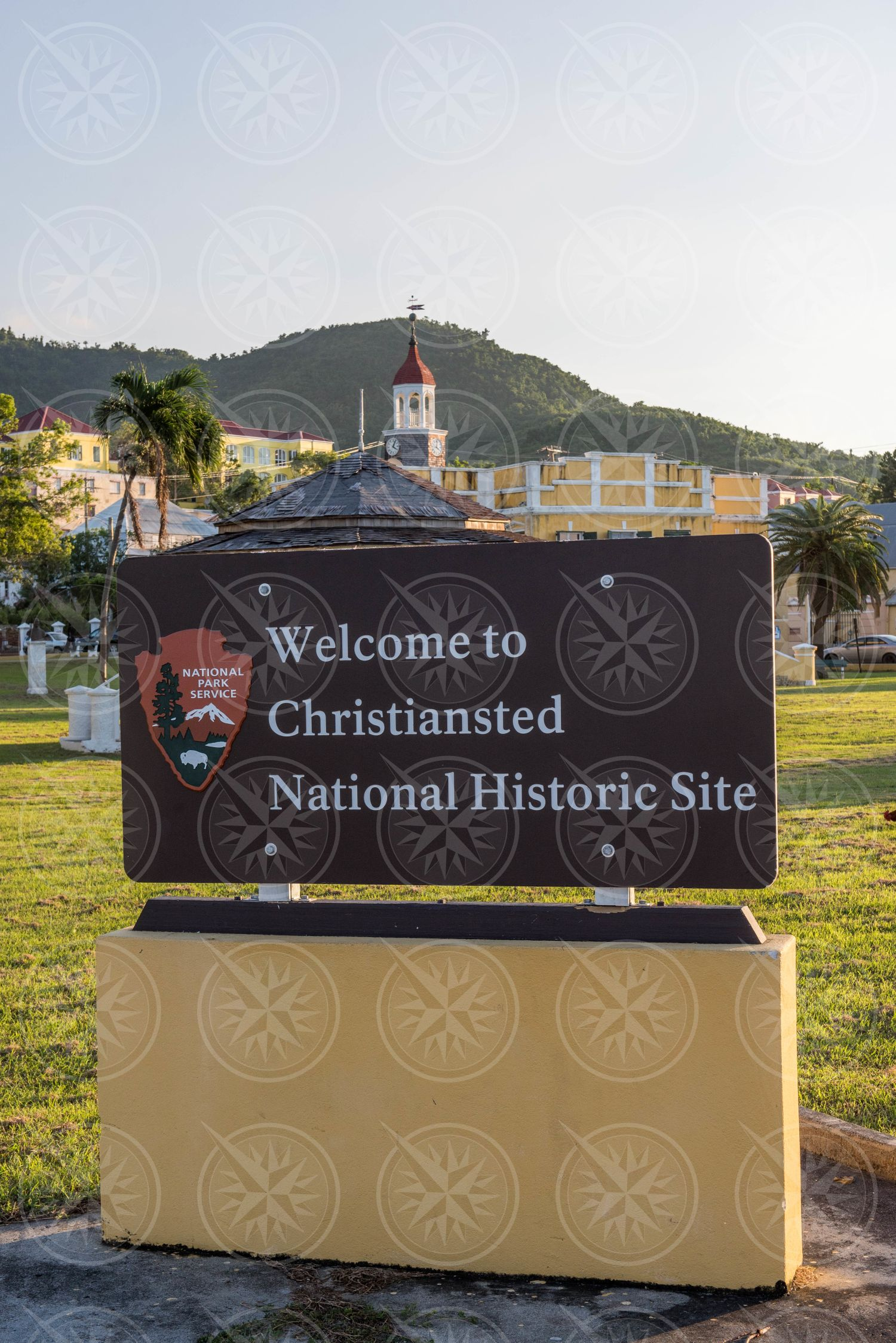 Christiansted National Historic Site sign