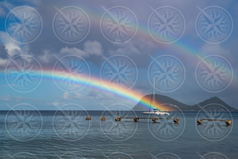 Rainbow to boat