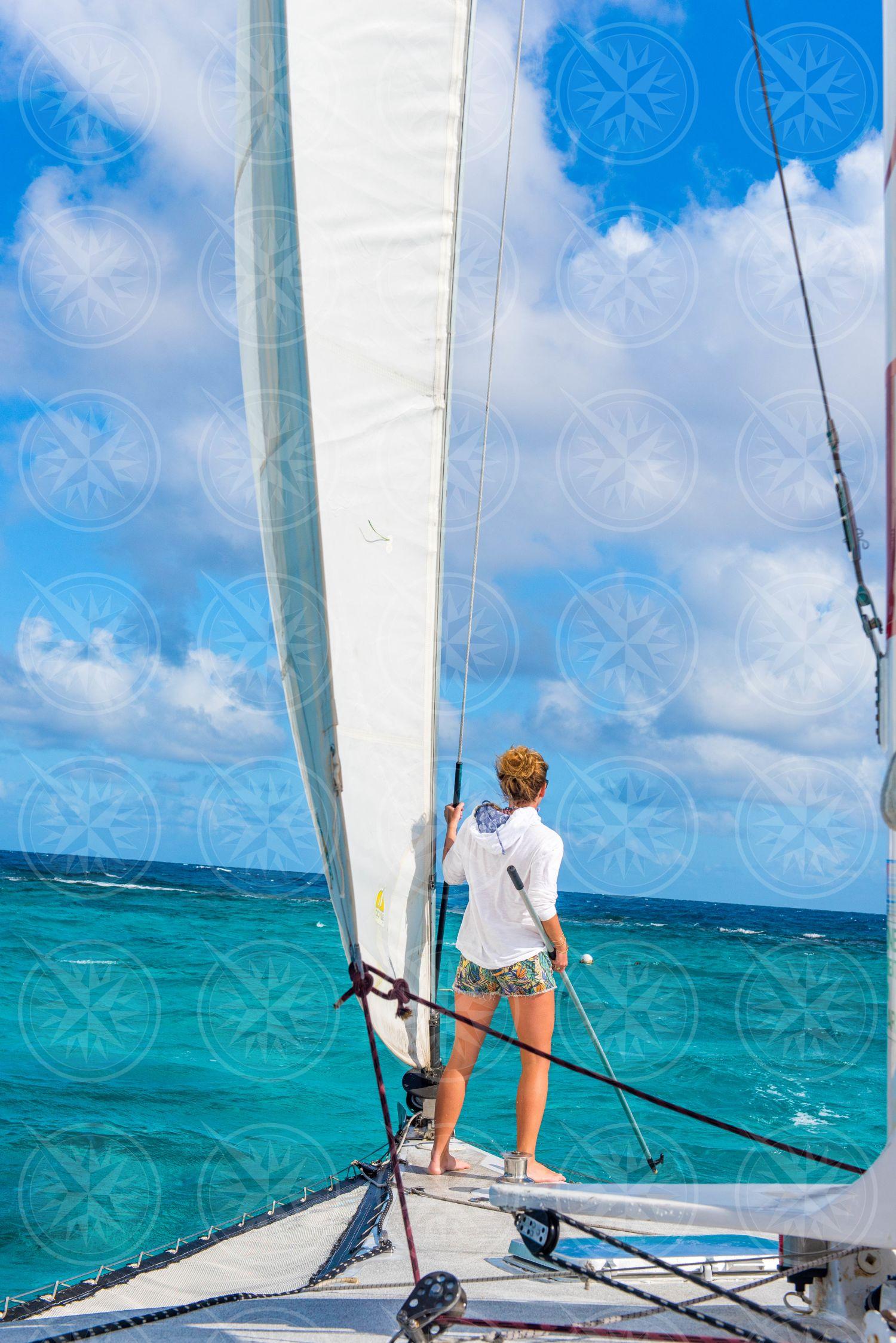 Sailing to Buck Island, St. Croix, USVI