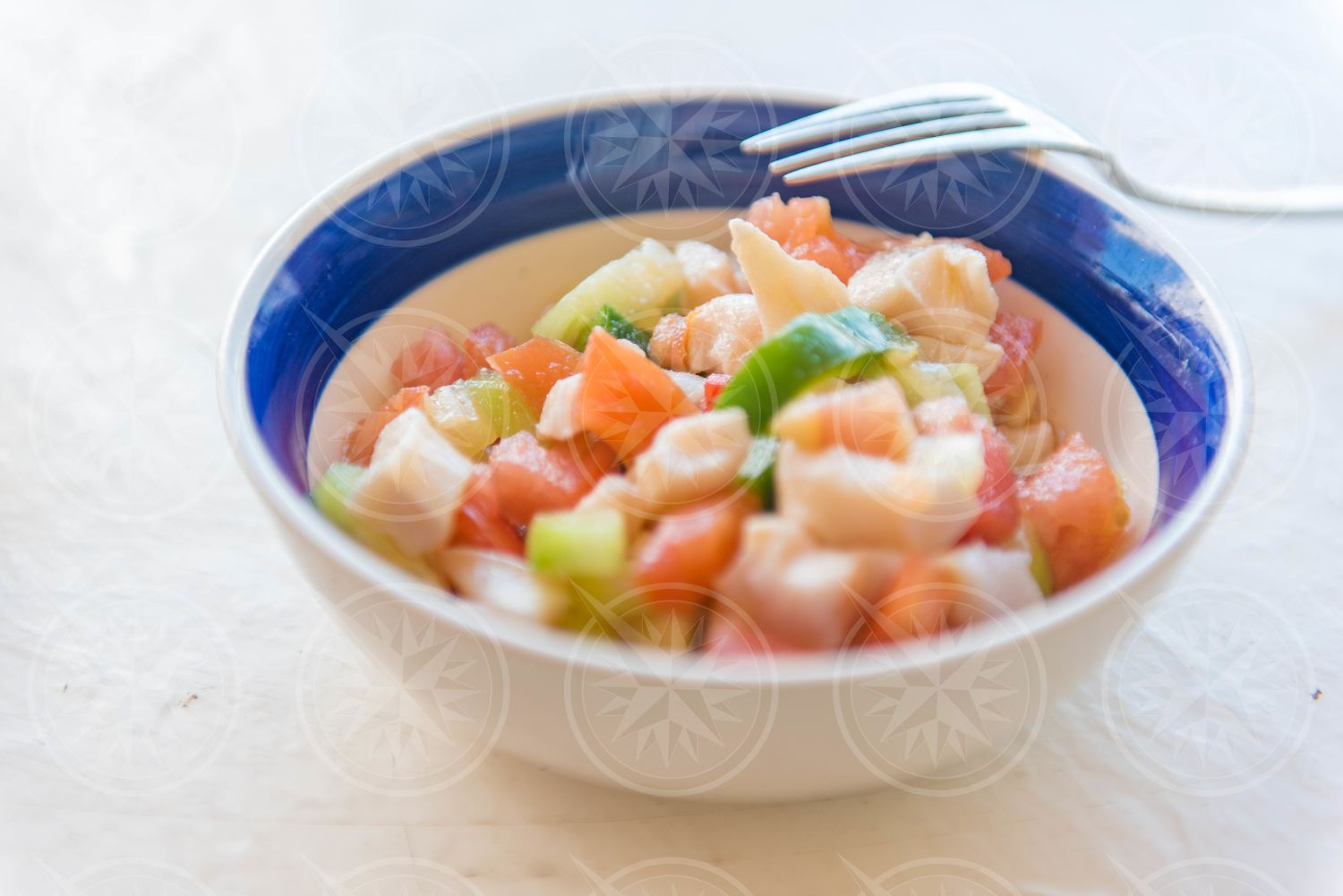 Conch salad in bowl